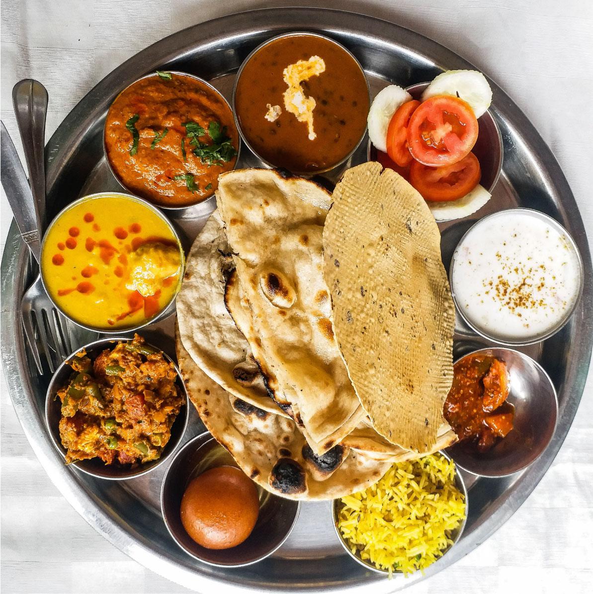 thali plato tipico india