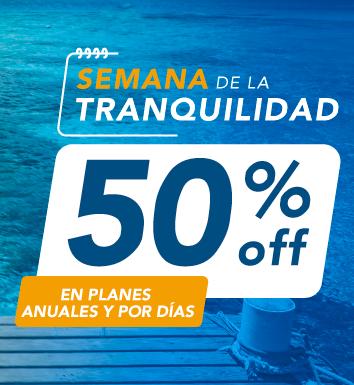 ¡Semana de la Tranquilidad 50% off en asistencia al viajero!